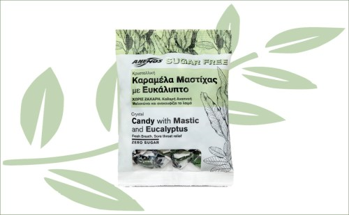 Mastiek snoepjes met eucalyptus keelpastilles