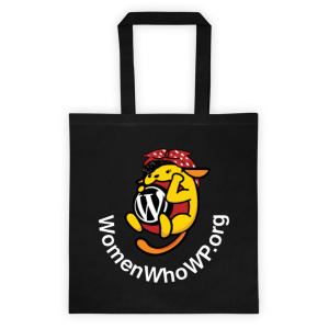 Women Who WP Tote bag black