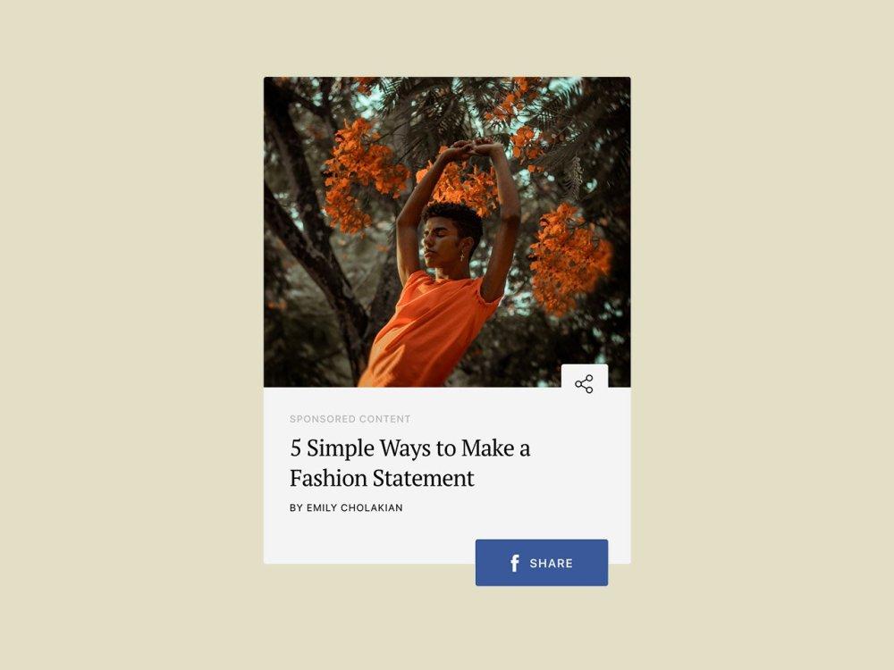 Social Media Share Widget