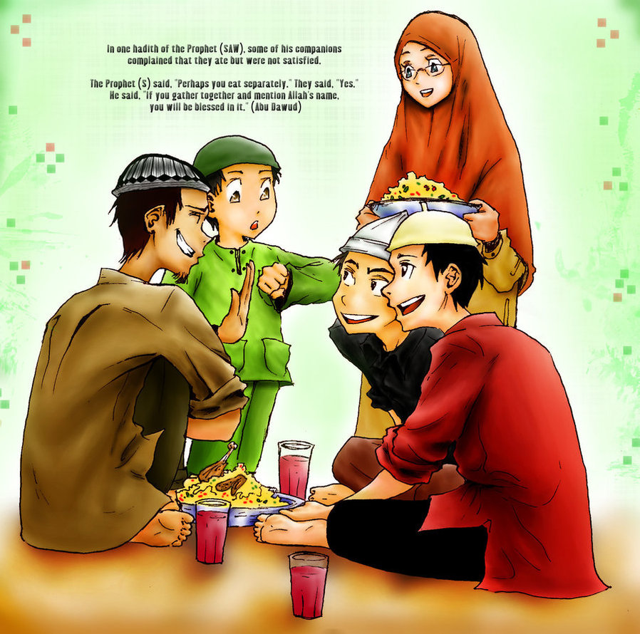 Картинки ислам семья с надписями