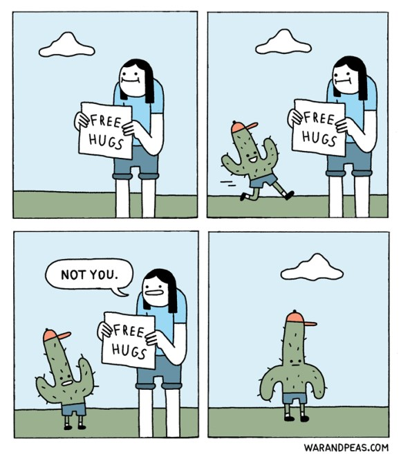 war and peas - free hugs