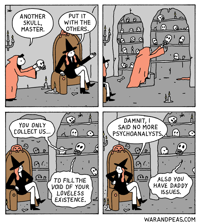 war and peas slutty witch daddy issues funny comic