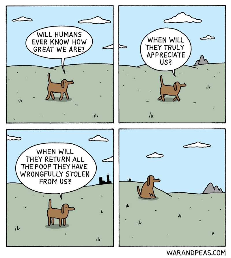 war-and-peas-when dog thoughts philosophy funny comic
