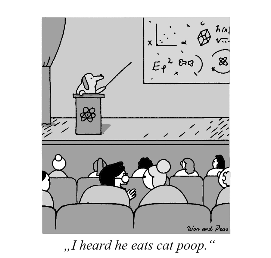 War and Peas - Cat Poop Professor - Elizabeth Pich and Jonathan Kunz
