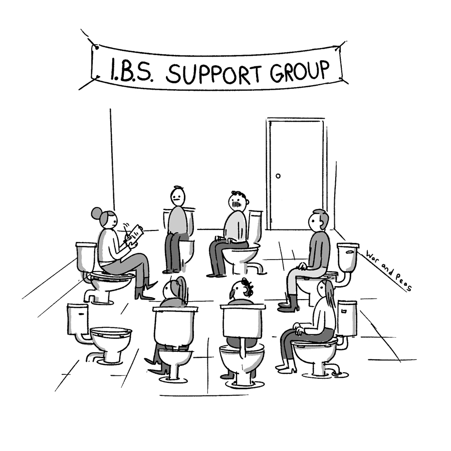 War and Peas - IBS Support Group - By Elizabeth Pich and Jonathan Kunz
