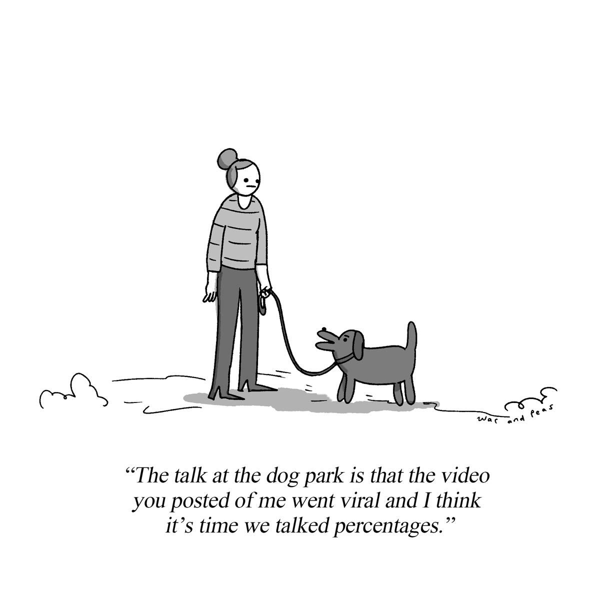 Percentages – Cartoon – War and Peas – Jonathan Kunz – Elizabeth Pich