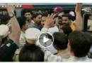 اورنگ آباد: ایم پی امتیاز جلیل اور این سی پی امیدوار میں ہاتھا پائی: پولس کا لاٹھی چارج : ویڈیو