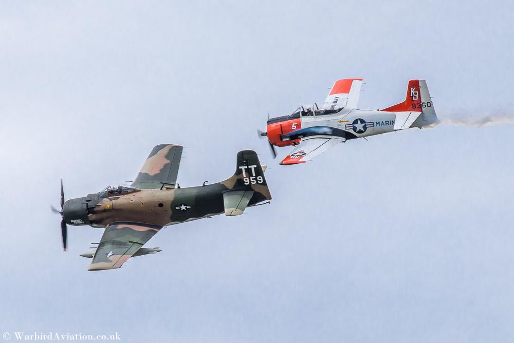 T28 Trojan and Douglas A-1 Skyraider - Wings over Waukegan
