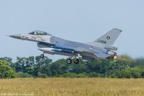 Dutch F-16 Fighting Falcon J-008