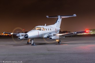 Embraer EMB 121 Xingu (YE/078) RAF Northolt Night Shoot