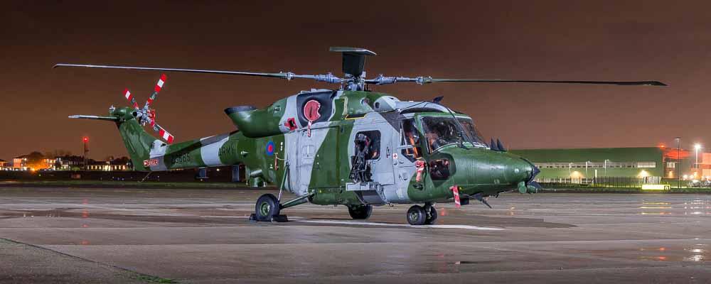 Westland Lynx AH9, ZG885 RAF Northolt Nightshoot