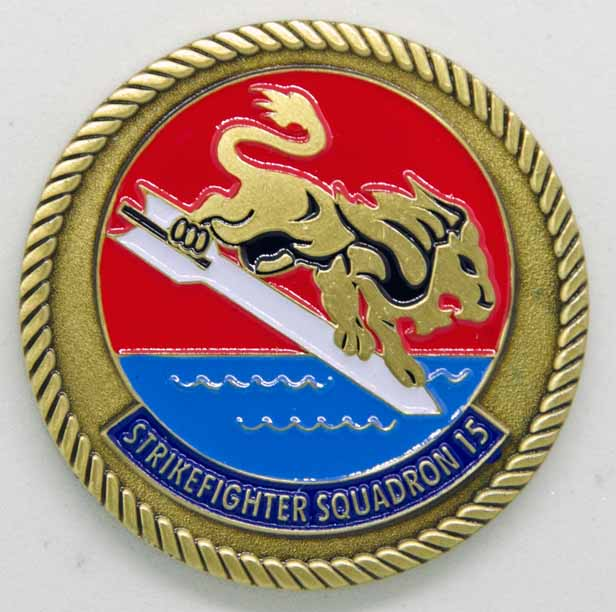 VFA 15 Command Coin Front