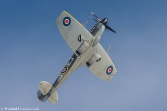 Vickers Armstrong Spitfire MV268 at Duxford Battle of Britain 2017