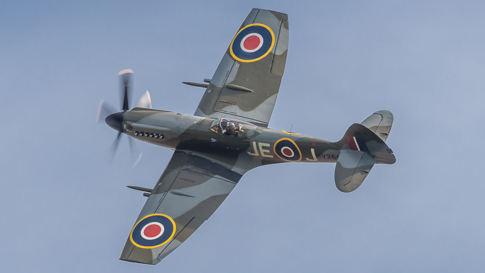 Spitfire MV268 at Duxford Battle of Britain 2018