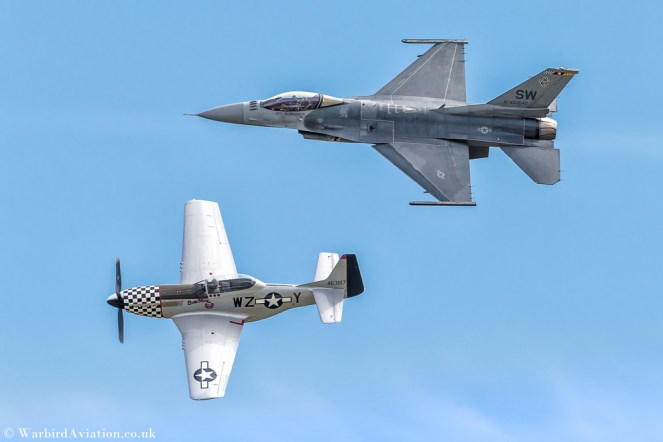"United States Air Force ""VIPER DEMO TEAM"" AF930540 F-16C BLK 50 and Cavalier P-51D Mustang N20TF 463187 Bum Steer"
