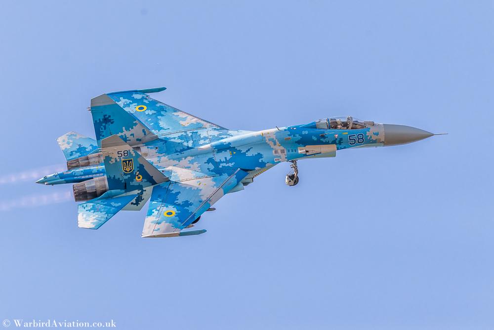 Ukrainian Air Force Su-27 Flanker @ Belgium Air Force Days 2018