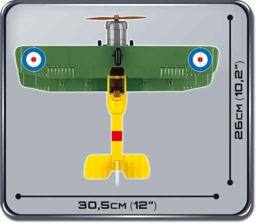 Cobi AVRO 504K Biplane Set Top view