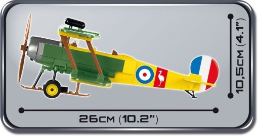 Cobi AVRO 504K Biplane Set dimensions