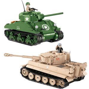 COBI Sherman Vs Tiger Combo Set