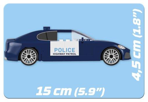 Cobi Action Town Highway patrol Car length