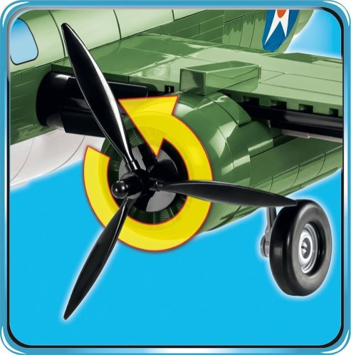 Cobi B-25 Moving parts