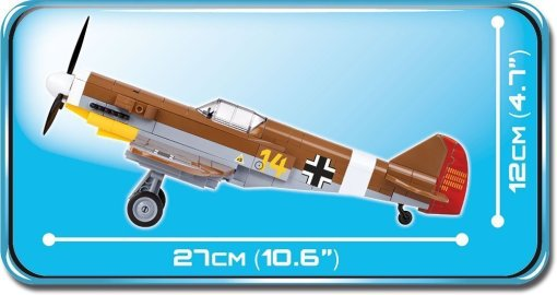 Cobi BF 109 F-4 Brick Set Length