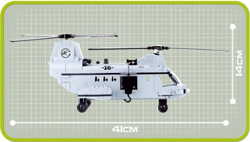 Cobi CH46 Heavy Lift Helicopter Set Dimensions