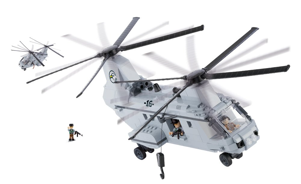 Cobi CH46 Heavy Lift Helicopter Set Fast Shipping