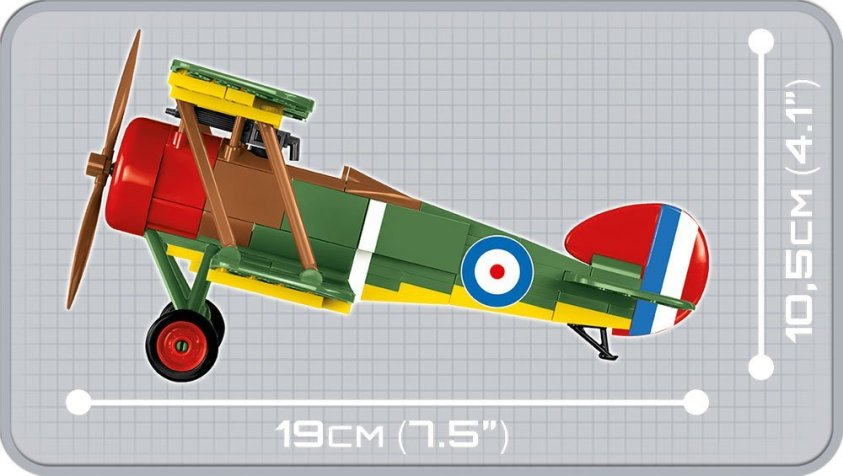 how big is the COBI Sopwith camel