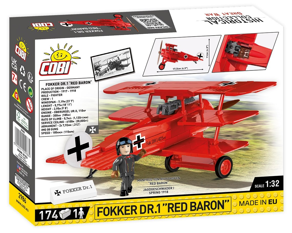 New Cobi Red Baron Fokker Tri-Plane (2986)
