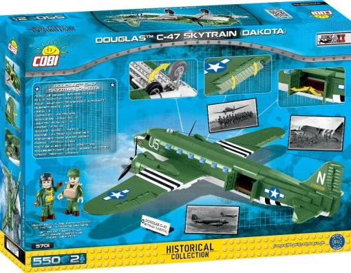 COBI C47 Skytrain Set Box Detail