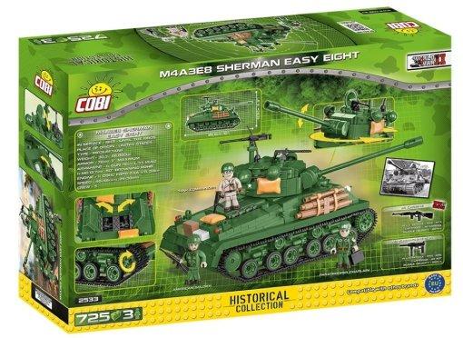 COBI Sherman Easy Eight Tank Set Box detail