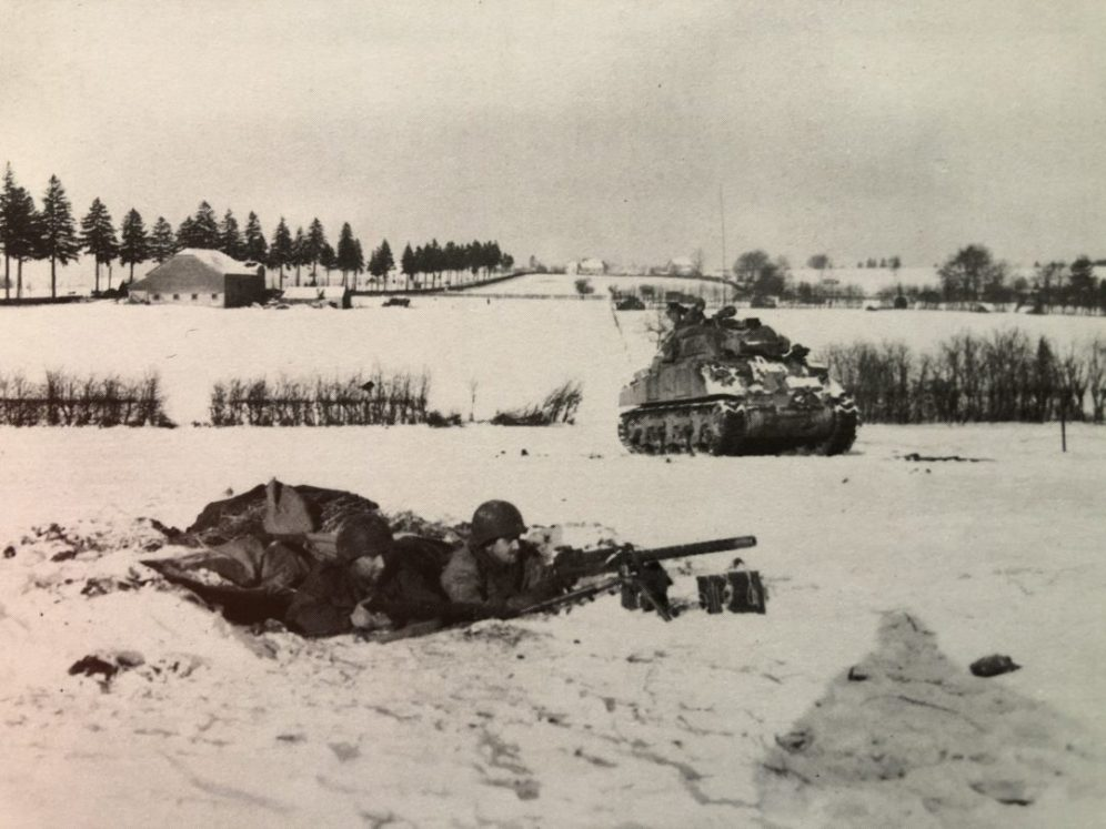 Sherman Tank During the Battle of the Buldge