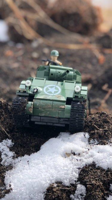 Warbricks Sherman Tank Set By Cobi
