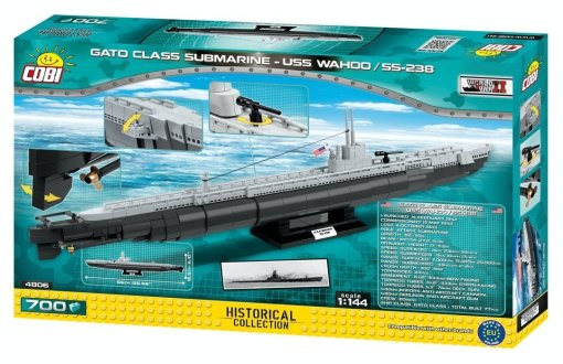 COBI USS WAHOO Submarine Set (4806) Box