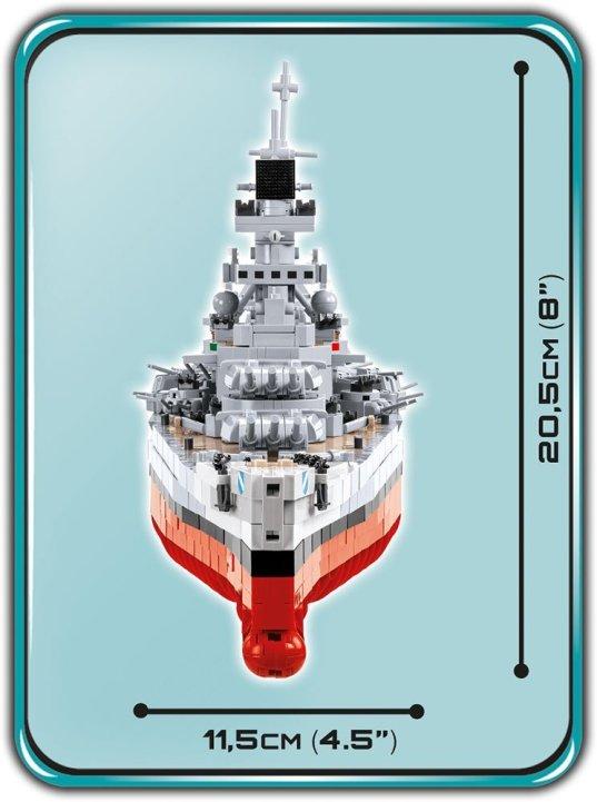 COBI Battleship Scharnhorst Set (4818) Size