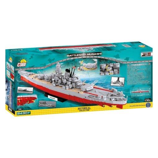COBI MUSASHI Battleship (4811) Box Details