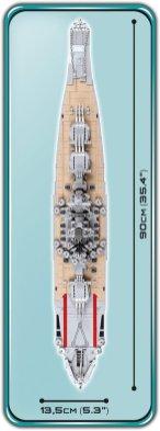 COBI MUSASHI Battleship (4811) Overal size