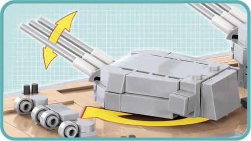 COBI MUSASHI Battleship (4811) Parts