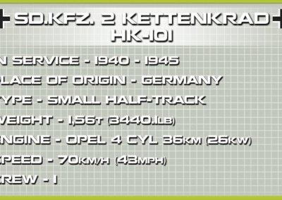 COBI SD KFZ 2 Kettenkrad Half Track Bike Set Specs