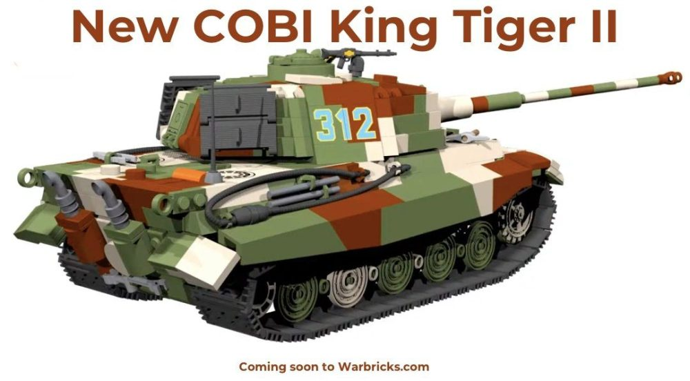 New COBI King Tiger II War Bricks USA