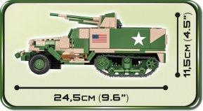 2535 M3 Gun Motor Carriage length