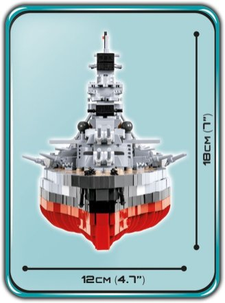 COBI Battleship Bismarck Set (4819) Size