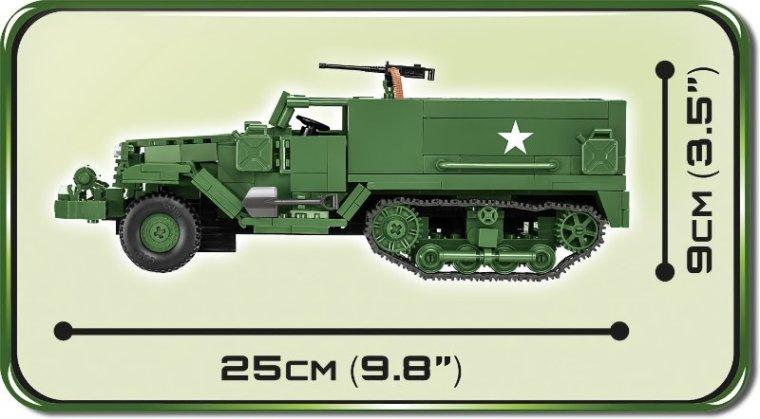 COBI M3 Armored Half-Track Set (2536) length