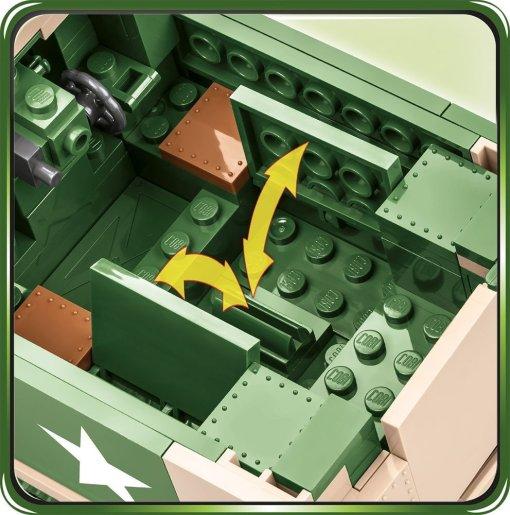 COBI M3 Gun Motor Carriage Set (2535) Benches