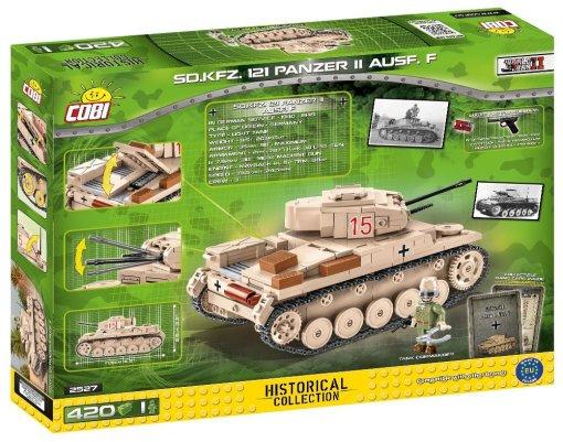 COBI Panzer II Ausf.F Tank Set box detail