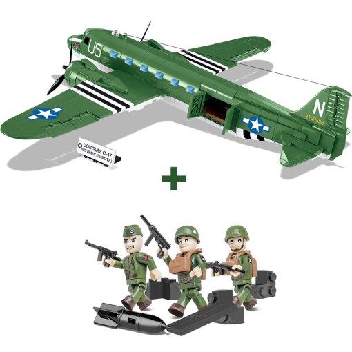 War Bricks D-Day C-47 Airborne Combo Set
