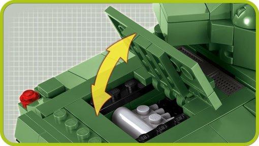 COBI Sherman Firefly Set (2515) Engine compartment