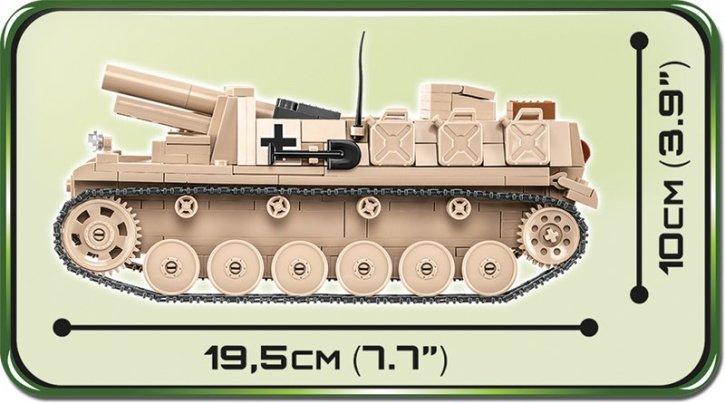 COBI Sturmpanzer II Tank Length