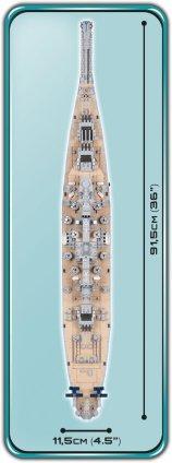 4812 USS Iowa - USS Missouri Length